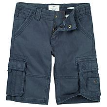 Buy Fat Face Boys' Tenby Cargo Shorts, Navy Online at johnlewis.com