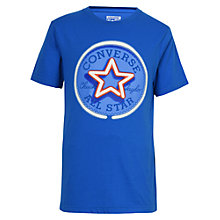 Buy Converse Boys' Glow in The Dark Neon Chuck Patch T-Shirt, Blue Online at johnlewis.com