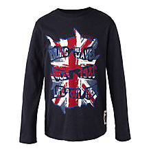 Buy Fat Face Boys' Union Jack Sharks T-Shirt, Navy Online at johnlewis.com