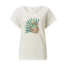 Buy Des Petits Hauts Ivanine Sequin T-Shirt, Ecru Online at johnlewis.com