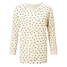 Buy Numph Jenny Printed Sweatshirt, Birch Online at johnlewis.com