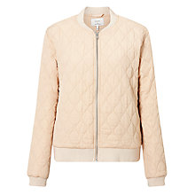 Buy Numph Gislny Quilted Bomber Jacket, Amberlight Online at johnlewis.com