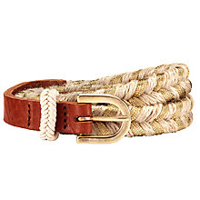 Buy Des Petits Hauts Polette Belt, Natural Online at johnlewis.com