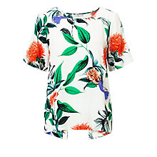 Buy Minimum Janika Printed Top, White Floral Online at johnlewis.com