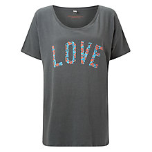 Buy Selfish Mother Love Original T-Shirt, Grey/Red & Blue Floral Online at johnlewis.com