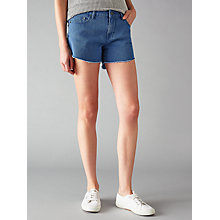 Buy Waven Tyra Cut Away Denim Shorts, Powder Blue Online at johnlewis.com