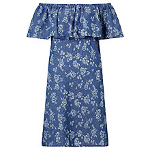 Buy Numph Flower Frill Dress, Blue Online at johnlewis.com
