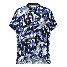 Buy Numph Erlenda Printed Shirt, Dark Sapphire Online at johnlewis.com