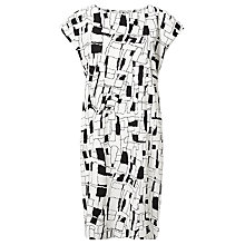 Buy Numph Jara Printed Dress, Black/White Online at johnlewis.com