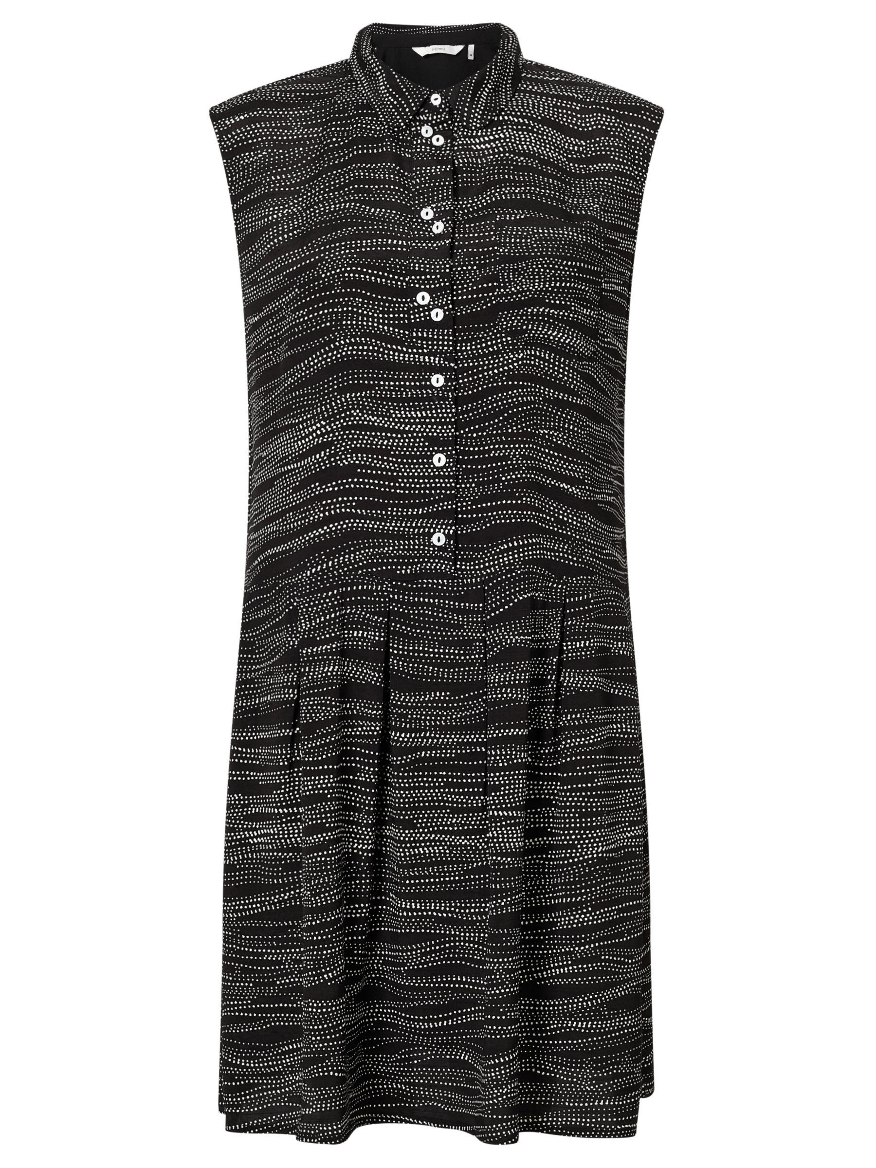Numph Numph Marian Sleeveless Dot Printed Dress, Caviar