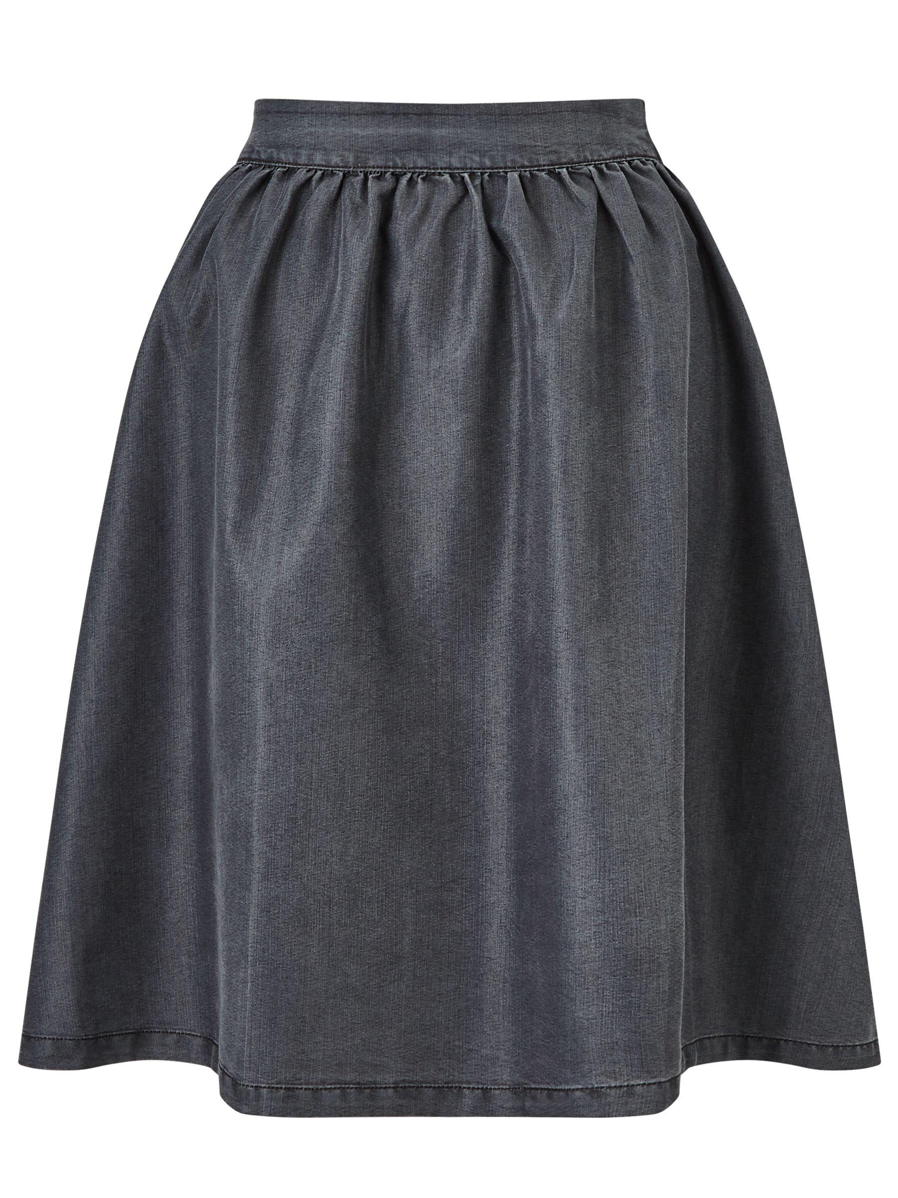 Minimum Minimum Baltima Denim Skirt, Medium Grey