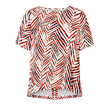 Buy Minimum Janika Printed Top, Flame Online at johnlewis.com