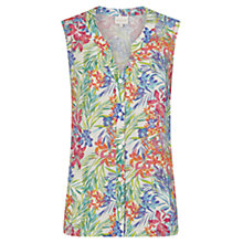 Buy East Linen Aloha Print Sleeveless Shirt, Multi Online at johnlewis.com