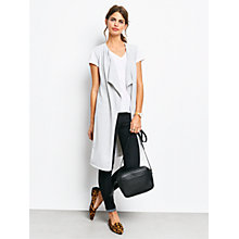 Buy hush Sleeveless Waterfall Cardigan, Grey Marl Online at johnlewis.com