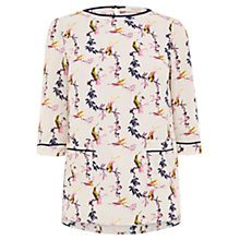Buy Oasis Lotus Bird Patch Pocket Top, Multi Online at johnlewis.com