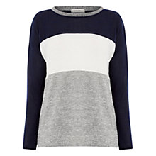 Buy Oasis Colour Block Jumper, Blue/Multi Online at johnlewis.com