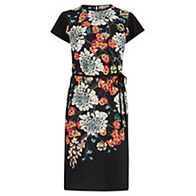 Buy Oasis Oriental Vine Woven Front Dress, Multi/Black Online at johnlewis.com