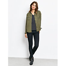 Buy hush Camberwell Shirt, Olive Online at johnlewis.com