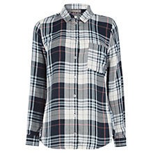 Buy Oasis Dip Hem Check Shirt, Multi Online at johnlewis.com