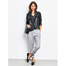 Buy hush Riley Relaxed Trousers, Light Grey Online at johnlewis.com