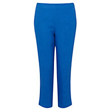 Buy East Linen Capri Trousers, Ocean Online at johnlewis.com