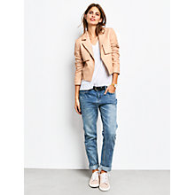 Buy hush Austen Leather Jacket, Nude Online at johnlewis.com
