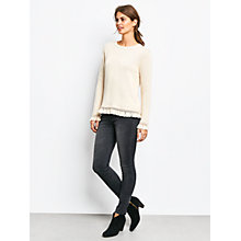 Buy hush Frayed Cuff Jumper, Biscuit Online at johnlewis.com