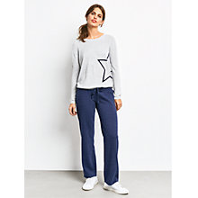 Buy hush Harriet Star Jumper, Lightest Grey Marl/Midnight Online at johnlewis.com