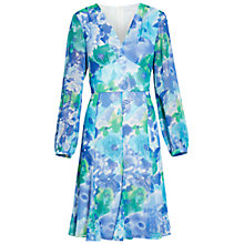 Buy Gina Bacconi Abstract Print Dress, Blue/Green Online at johnlewis.com