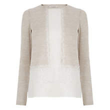 Buy Oasis Lace Insert Cut And Sew Jumper Online at johnlewis.com