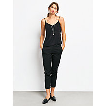 Buy hush Stretch Cropped Slim Trousers, Black Online at johnlewis.com