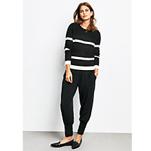 Buy hush Brooke Striped Jumper, Black/Ecru Online at johnlewis.com