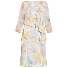 Buy Gina Bacconi Floral Print Dress And Jacket, Watercolour Online at johnlewis.com