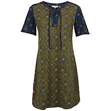 Buy Fat Face Becky Folk Geo Dress, Khaki Online at johnlewis.com