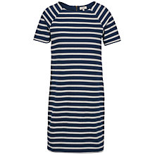 Buy Fat Face Suzie Stripe Dress, Navy Online at johnlewis.com