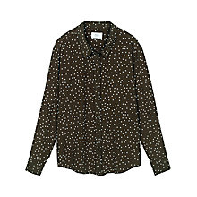 Buy hush Rita Printed Shirt, Olive/White Online at johnlewis.com