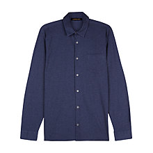 Buy Jaeger Jersey Cotton Regular Fit Shirt, Navy Online at johnlewis.com