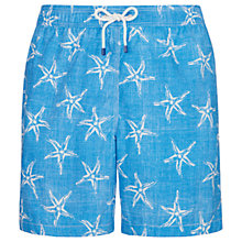Buy Hackett London Sea Star Swim Shorts, Blue Online at johnlewis.com