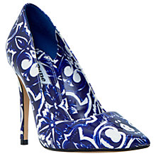 Buy Dune Blue Pointed Toe Stiletto Court Shoes, Blue Online at johnlewis.com