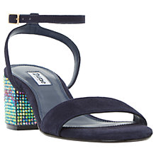 Buy Dune Marble Block Heeled Sandals Online at johnlewis.com
