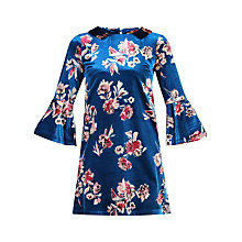 Buy Jolie Moi Fluted Sleeve Tunic, Blue Online at johnlewis.com