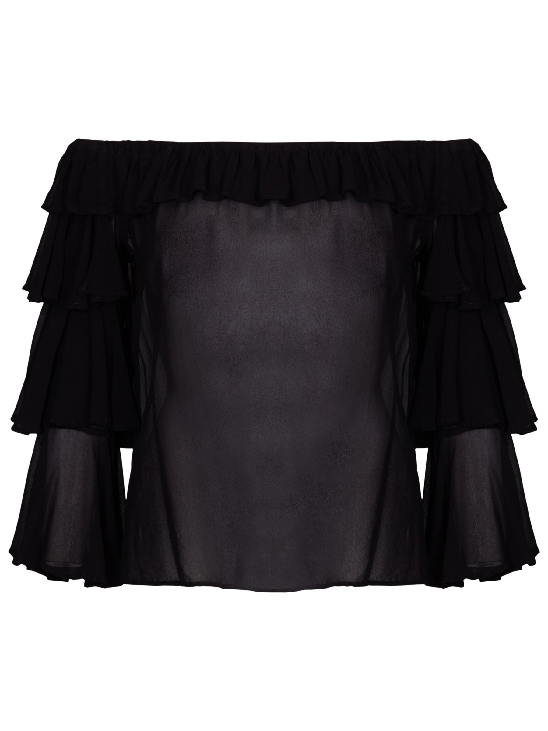 Ghost Ghost Kat Frill Top, Black