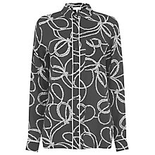 Buy Warehouse Rope Print Shirt, Black Online at johnlewis.com