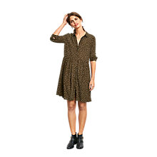 Buy hush Azalea Dress, Olive/White Online at johnlewis.com