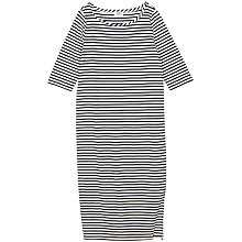 Buy hush Solana Striped Dress, Black / White Online at johnlewis.com