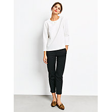 Buy hush Fearne Relaxed Boxy Top, White Online at johnlewis.com