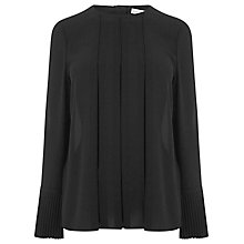 Buy Warehouse Box Pleat Top, Black Online at johnlewis.com