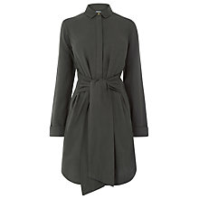 Buy Warehouse Belted Shirt Dress, Dark Green Online at johnlewis.com