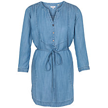 Buy Fat Face Jo Chambray Longline Shirt, Blue Online at johnlewis.com