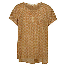 Buy Fat Face Zoe Stitching Stars Top, Golden Sand Online at johnlewis.com